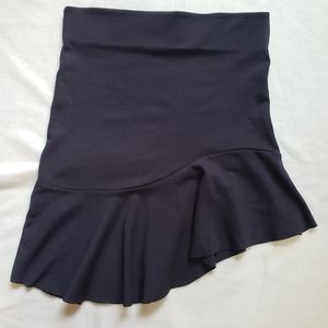 Zara collection navy blue fitted skirt